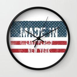 Made in Lake Placid, New York Wall Clock