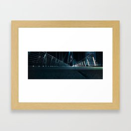 Man on Bridge Framed Art Print