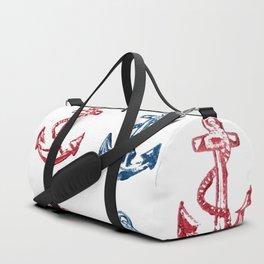 Anchor Pattern Duffle Bag