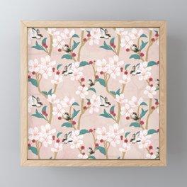 Chinoirserie Pattern Framed Mini Art Print
