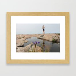 Painted Rock Framed Art Print