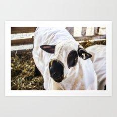 Baa Baa Black Sheep in Disguise Art Print