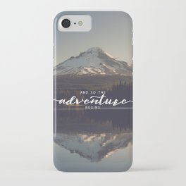 Trillium Adventure Begins - Nature Photography iPhone Case