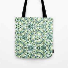 Green petal kaleidoscope  Tote Bag