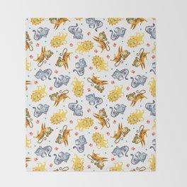 Baby Big Cats Pattern Throw Blanket