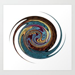 Rotating Magic Star Art Print