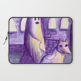 ghost and dog horror painting Laptop Sleeve