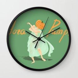 Isadora Pumpkin Wall Clock