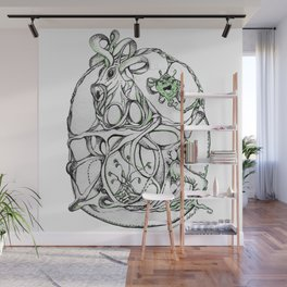 Entangled Unicorn Wall Mural