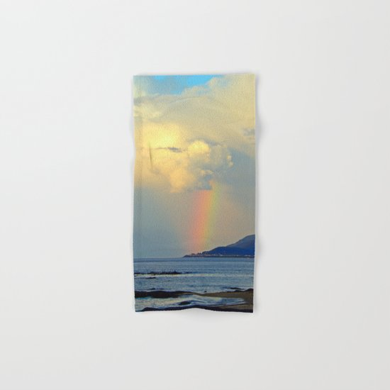 Storm Drops a Rainbow onto Village Hand & Bath Towel