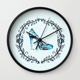 Cinderella' slipper Wall Clock