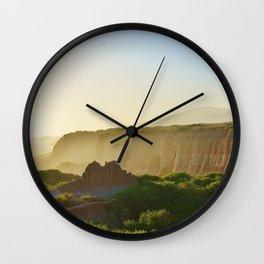 Beach Cliffs in the Clouds Wall Clock