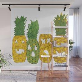 Pineapple Jack-O-Lanterns Wall Mural