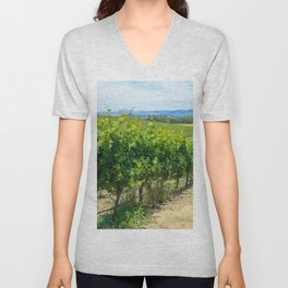 Wine Country Vines Unisex V-Neck