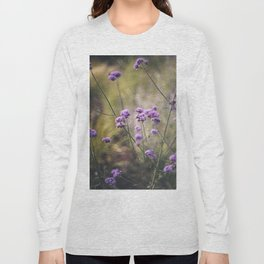 Purple wild flowers Long Sleeve T-shirt