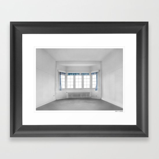 the blue Framed Art Print