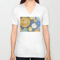 kandinsky V-neck T-shirts featuring doodling banjos by Beth Jorgensen