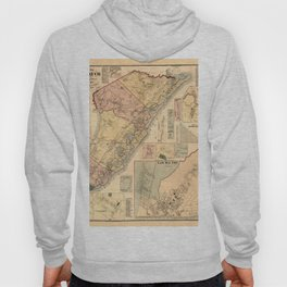 Map Of Cape May 1872 Hoody
