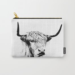 Wall Tapestry  portrait of a highland cow Carry-All Pouch