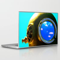 diver Laptop & iPad Skins featuring Diver by Violet86