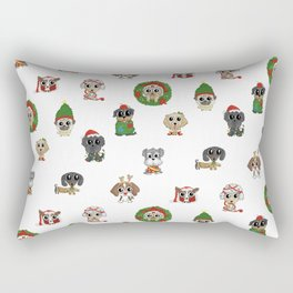 Christmas Puppies Rectangular Pillow