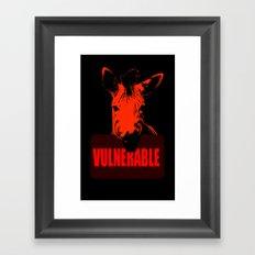 Vulnerable Zebra Framed Art Print