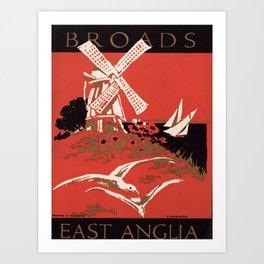 retro East Anglia Art Print