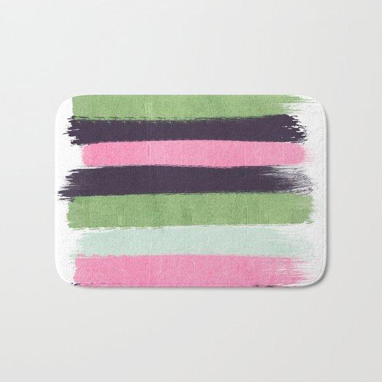 Stripes minimal striped pattern basic nursery gender neutral decor Bath Mat