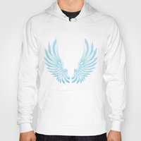 wings Hoodies featuring wings by Li-Bro