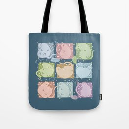 Blobby Cats dark Tote Bag