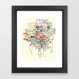 Voices Converge: Women's March on Washington Framed Art Print
