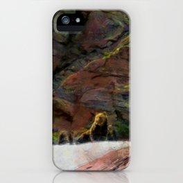 Grizzlies atop Grinnell Glacier in Glacier National Park iPhone Case