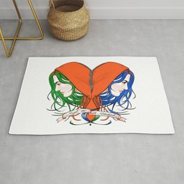 Clementine's Heart Rug