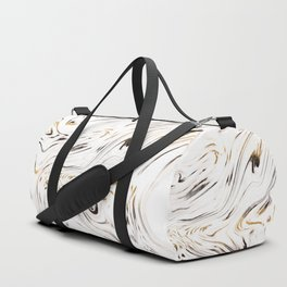 Liquid Gold Silver Black Marble #1 #decor #art #society6 Duffle Bag