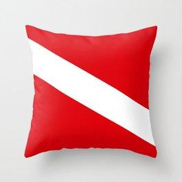 Diving flag Throw Pillow