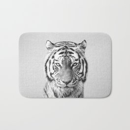 Tiger - Black & White Bath Mat