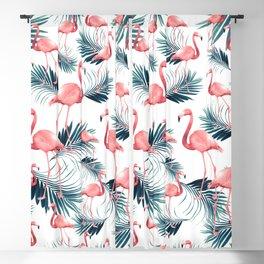 Summer Flamingo Palm Vibes #1 #tropical #decor #art #society6 Blackout Curtain