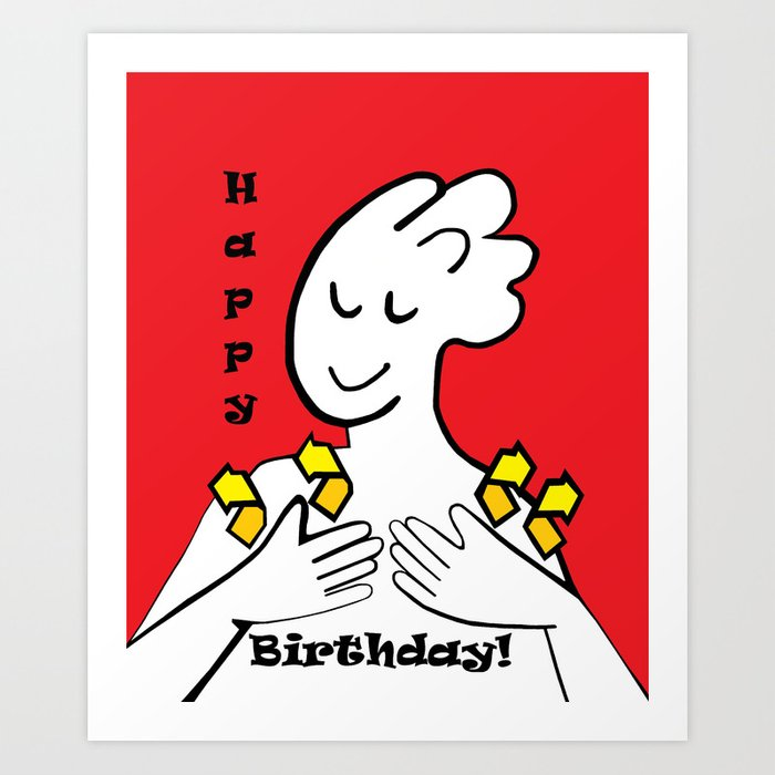Asl Happy Birthday Art Print By Eloiseart Society6