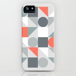 Mid Century Modern Geometric 02 iPhone Case