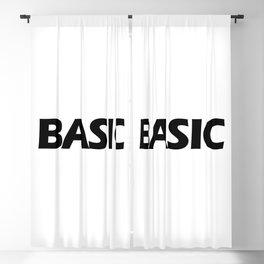 BASIC in Black Blackout Curtain