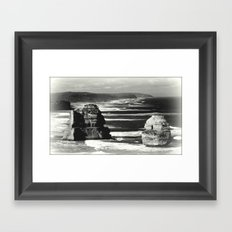 Rock Stacks Framed Art Print