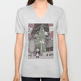 Of Snow and Stars and Christmas Wishes Unisex V-Neck