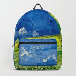 Vincent van Gogh Wheatfield Under Thunderclouds Oil Painting Backpack