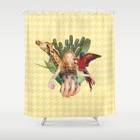 safari Shower Curtains featuring Safari  by polina stroganova collages