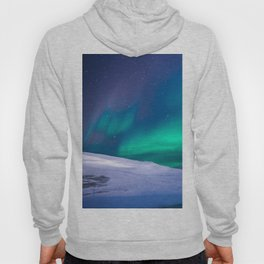 winter sky aurora Hoody