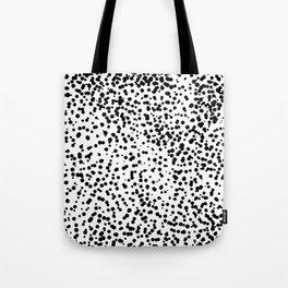 Retro Themed Dot Pattern Design Tote Bag