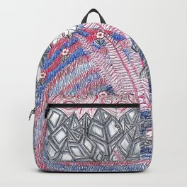 Abstract Flower Field Backpack