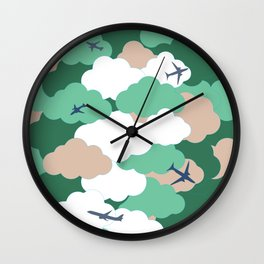 Clouds and planes Wall Clock