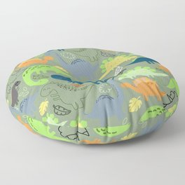 Dinosaurs jungle pattern Floor Pillow
