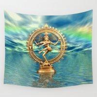 shiva Wall Tapestries featuring Shiva Nataraja by LessaKs Art